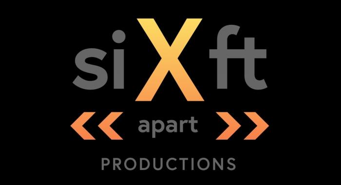 Six Feet Apart logo on black background