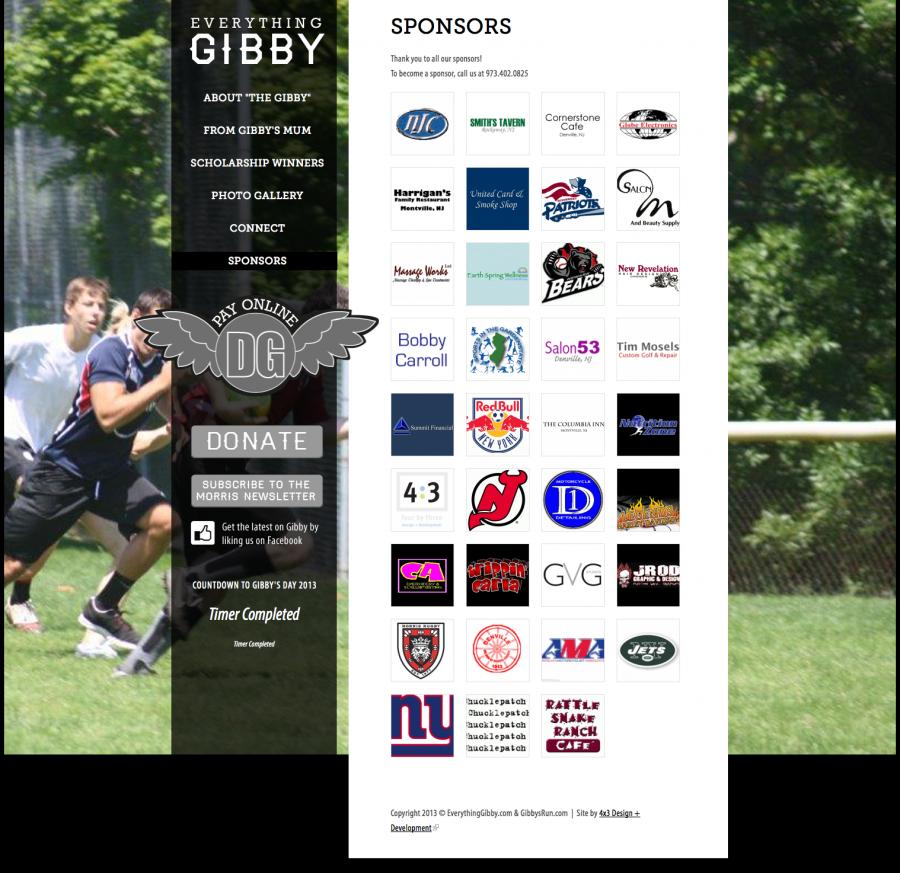 Everything Gibby Sponsors